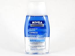 nivea express eye makeup remover this is the est and most effective eye makeup remover as it really works on waterproof mascara and eyeliner