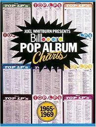 1969 Music Charts Billboard Pop Album Charts 1965 1969 Joel Whitburn