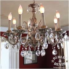 dining room antique crystal chandelier burlap denimburlap denim with regard to contemporary property ideas oyster shell