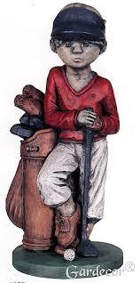 golfer boy garden statue william