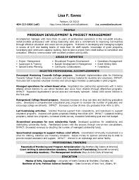 Program Director Resume Prepossessing Nonprofit Management Examples