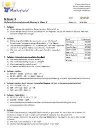 Übungsaufgaben für schüler der hauptschule (5. Grundrechenarten Ubungen Aufgaben Klasse 5 Mathefritz