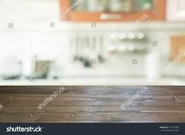 Kitchen Table Top Background White Blurred Background Modern Kitchen