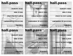Student Hall Pass Printable Hall Passes For Students Hall Pass School Hall