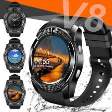 V8 Smart Watch Bluetooth Watches Android With 0.3M Camera MTK6261D Smartwatch For Apple Phone Micro Sim TF Card Retail Package Wrist