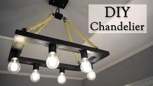 diy led chandelier rustic hemp rope chandelier for creativity hero how to make a rustic industrial