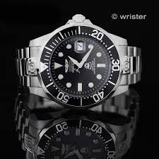 invicta grand diver automatic watch invicta grand diver automatic 24 jewel black silver stainless steel mens watch