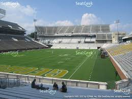 view seating charts georgia tech yellow jackets football at bobby dodd stadium section 132 view