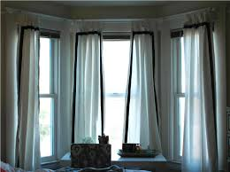 Living Room Bay Window Interesting Bay Window Curtain Ideas Dream House Ideas