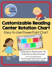 Reading Center Rotation Chart Customizable Reading Center Rotation Chart