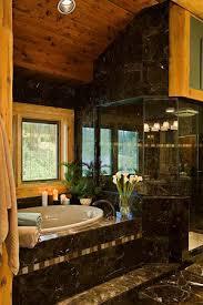 log cabin bathroom design
