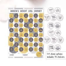 Slimming World Weight Loss Chart Weight Loss Chart 1 4 Stone Laminated Sheet With Stickers Diet Reward Chart Weight Loss Motivation Slimming World Weight Watchers Gold Grey