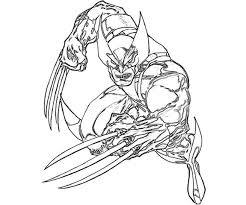 Small Picture Elegant Wolverine Coloring Pages 30 For Your Seasonal Colouring
