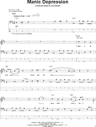 don t fear the reaper sheet music manic depression bass tab zzounds