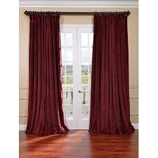 burdy velvet blackout extra wide curtain panel