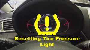 Car Tire Warning Light Resetting Low Tire Pressure Light