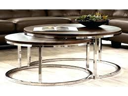 round nesting coffee table round nesting coffee table new modern chrome 2 piece nesting coffee table