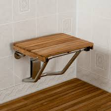 teak shower bench wall mounted