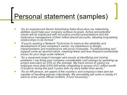 Personal Profile Examples For Resumes Example Resume Personal