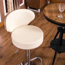 faux cowhide bar stools stool covers australia original modern genuine leather brown or beige white kitchen
