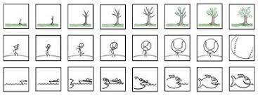 stick figures ants or bouncing can all be worthy flip book stars draw your scenes as close to the unbound edge as possible so