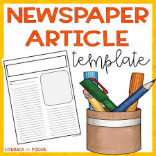 Newspaper Article Template Students Newspaper Article Template Blank News Template By Literacy