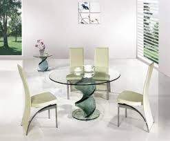 Modern Glass Dining Table Round Glass Dining Table Set Shelby Knox