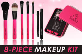 last day 74 off 3ce mini brush makeup kit in 2 colors free shu uemura eyelash curler free registered mail options for 2 sets available