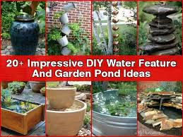 easylovely diy garden water features 17 in excellent home decor