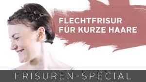 Geflochtene Dirndl Frisur F R Kurze Haare Two For Fashion Youtube