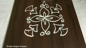 Simple Rangoli Designs 5 5 Dots Easy Rangoli Designs