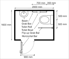 Wheelchair Access Penang Wapenang Toilet WC For Disabled People - Handicap bathroom size