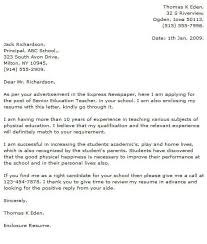 Physical Education Teacher Cover Letters Cover Letter For Physical Education Teacher Major