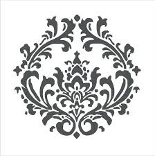 damask stencil for walls wall stencils pattern flourish image designs templates free stenci