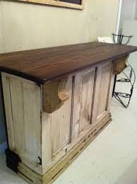 bar made from old doors make just a little bigger for a counter