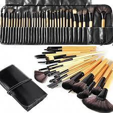 makeup brushes makeup brush set monoled 32 pcs natural synthetic bristle wooden handle cosmetics foundation eyeliner mascara eyeshadow face powder blush