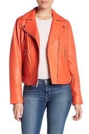 image of michael michael kors clean asymmetrical moto leather jacket