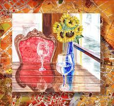 italian cafe painting italian cafe by irina sztukowski