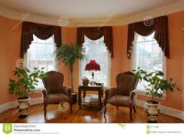 Window Coverings Living Room Living Room With Bay Window Royalty Free Stock Photos Image 2177588
