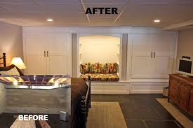 finished basement ideas before and after. basement_remodeling;a. the unfinished basement before finished ideas and after