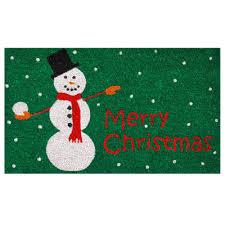 Home & More Christmas Snowman 17 in. x 29 in. Coir Door Mat ...