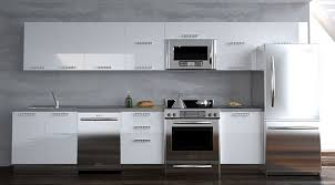 Innovative Modern White Kitchen Cabinets and Modern White And Gray Kitchen  Features Dark Flat Front Intended