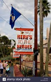 here s to the heroes promotion at busch gardens tampa florida usa stock image