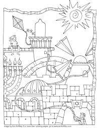 coloring pages hanukkah free printable by pdf