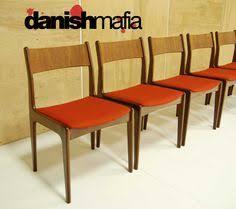 mid century dining chairs mid century danish modern teak dining plete set table 6