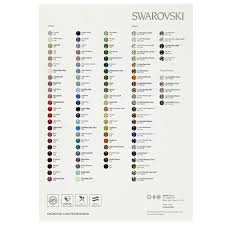 Swarovski Color Chart Round Stones And Fancy Stones En 2015