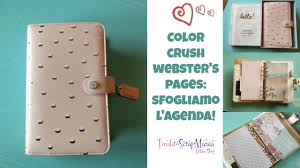 Color Crush Websters Pages Review Sfogliamo Lagenda Youtube
