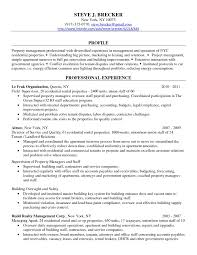 Apartment Property Manager Resume Free Resume Templates
