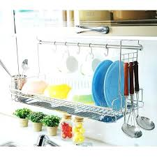 Dish Drying Rack Walmart Delectable Over The Sink Rack Wall Mounted Dish Drying Rack Over The Sink From