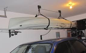 garage kayak storage garage pulley system from ceiling